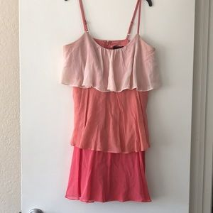 Laundry pink tiered dress size 8